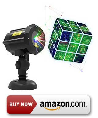 GEEKERS 18 Pattern Laser Light Projector