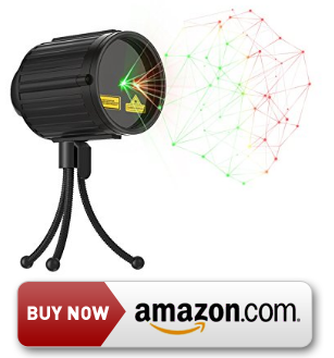 GEEKERS Waterproof LED Laser Light Projector