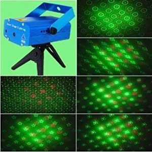 Top Race Christmas Mini Stage LED Laser Projector